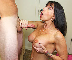 milf finishes the job